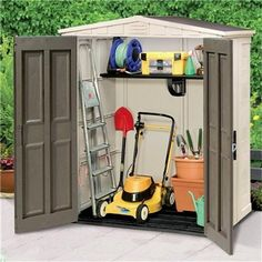 Keter Plastic Sheds - Apex 6 x 3 Plastic Garden Shed.  Turn into a chicken coop...?