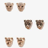 Wild Cheetah Studs