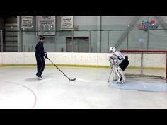 Chris Ardito of the Connecticut Crease shares his Behind the Net goalie drill. Chris demonstrates how the correct positions, movements and timing help a goal. Goalie Gear, Hockey Goalie, Ice Hockey, Hockey Gear, Hockey Stuff, Hockey Drills, Hockey Memes, Hockey Training, Training Materials