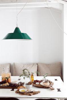 Dining room and pendant light inspiration. #decorate #interiors #interiordesign