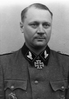 "Joachim Rumohr was an SS-Brigade Commander and Major General of the Waffen-SS. Rumohr fought during the entire WW2, first with the Das Reich Waffen SS Division and later with the SS Cavalry Division (Russia). In July 1944, he assumed command of the 8th SS Cavalry Division ""Florian Geyer"". He was a recipient of the Knight's Cross of the Iron Cross with Oak Leaves. Rumohr was killed while trying to escape the Soviets during the Battle of Budapest on Feb 11, 1945."