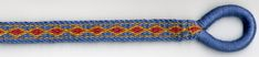 Reconstruction of a Anglo-Saxon threaded-in weave pattern by Shelagh Lewins (using directions by Carolyn Priest-Dorman).