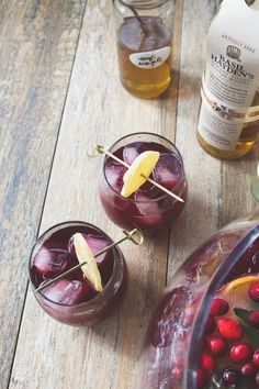 Boxed Wine Pitcher Cocktails: Red Wine, Spiced Apple & Bourbon Cocktail — Out of the (Wine) Box Cocktails | The Kitchn