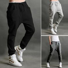 1pcs freeshipping***Casual Men Sports Jogging Dance Baggy Trousers Slim Harem Pants Waistband Slacks JX0134dropshipping-in Pants from Apparel & Accessories on Aliexpress.com