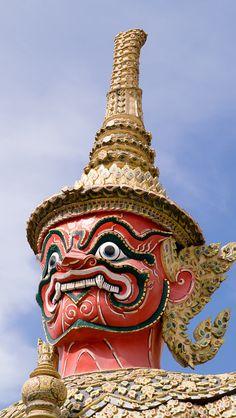Temple Deity, Bangkok, Thailand
