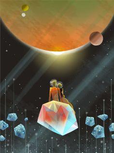 Space Oddity by Joey Chou #planets #universe