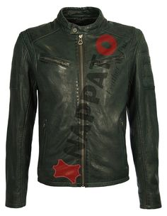 Leather Jacket Riley 2  Emerald