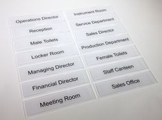 Door Signs for every #Office #door   made by www.de-signage.com/Officesigns.php Office Door Signs, Staff Room, Room Signs, Signage Systems, Lockers, Doors, Business, Ideas, Locker