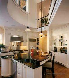 Kitchen design by KR+H's Paul Reidt with architect Doreve Nicholaeff / Photography by Peter Vanderwarker
