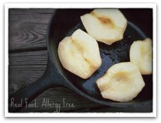 Baked Pears Drizzled with Real Maple Syrup @ Real Food, Allergy Free