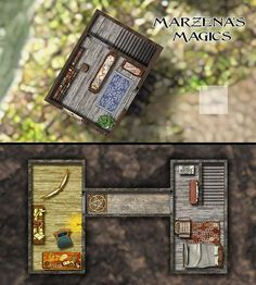 Marzena magic shop for web. Fantasy Map, Medieval Fantasy, Fantasy World, Dungeon Maps, Magic Shop, Pen And Paper, Cartography, Dungeons And Dragons, Buildings