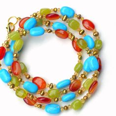 Extra Long Colorful Wrap Multi Strand Necklace/ by ALFAdesigns, $59.99