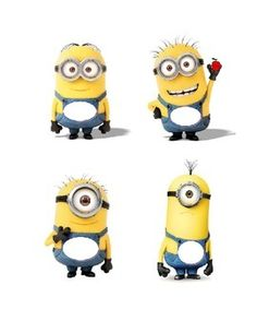 Minions with a blank space on overalls to allow you to write child's name,etc. In Microsoft Word format in order to allow you to resize.