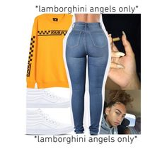 """*Lamborghini angles only *"" by leshabest ❤ liked on Polyvore featuring Vans"