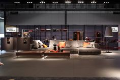 Presenting the new sofa collection during Salone del Mobile, Milano 2015