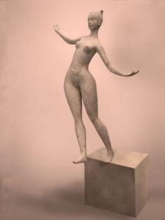 Sculpture Contemporary Sculpture, Tinkerbell, Disney Characters, Fictional Characters, Sculptures, Statue, Disney Princess, Women, Art
