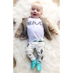 Brave tee from hausofrome.com leggings from asherandcrew.com mocks from sweetnswag.com #babyfashion #trendybaby #ootd