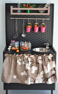 LOTS of DIY Play Kitchen Ideas