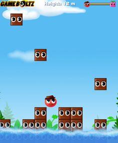 Salta y para subir y que los bloques no te aplasten, come los de color. ► http://www.ispajuegos.com/jugar7683-Jump-My-Love.html