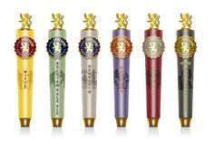 Brewery Ommegang tap handles: rebrand via Duffy & Partners. #beer