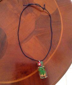 Collana con  #diy #necklace #collana #bottiglia #fiore #albero #bottle