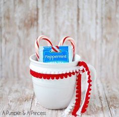 Peppermint Tea Mug Gift - Day 28 - 100 Days of Christmas