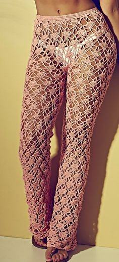 Image uploaded by it's Leo. Find images and videos about fashion, clothes and moda on We Heart It - the app to get lost in what you love. Crochet Pants, Crochet Skirts, Crochet Shoes, Love Crochet, Beautiful Crochet, Crochet Clothes, Crochet Lace, Crochet Bikini, Handmade Clothes