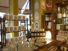 Photo of candles in Diptyque store on St. Germain in Paris/photo by Hello Lovely Studio