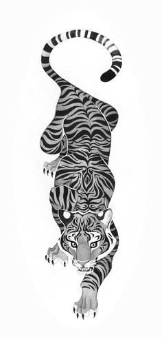 Black and white crawling tiger tattoo . - Black and white crawling tiger tattoo - Lions Tattoo, Hawaiianisches Tattoo, Get A Tattoo, Tattoo Drawings, Thai Tattoo, Armband Tattoo, Maori Tattoos, Kunst Tattoos, Body Art Tattoos