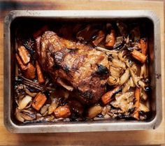 Just wanted to share this delicious recipe from Lidia Bastianich with you - Buon Gusto! Roast Pork Shoulder with Roast Vegetable Sauce