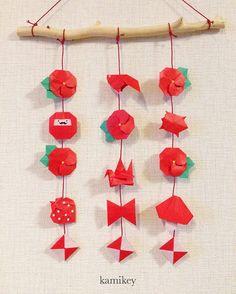 2016.2.11 つるし飾り🎎全部7.5㎝の折り紙で折っています🍄リースもいいけど、つるし飾りも楽しい!🍓 Ornaments hanging for Hinamatsuri (girl's festival) 🎎 #折り紙#origami #ひな祭り Japanese Origami, Punch Art, Origami Paper, Paper Crafts, Ornaments, Holiday Decor, Blog, Japanese Language, Google