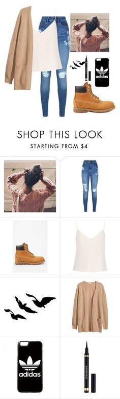 """""""Untitled #18"""" by maahamral ❤ liked on Polyvore featuring Lipsy, Timberland, Raey, H&M, adidas and Yves Saint Laurent"""