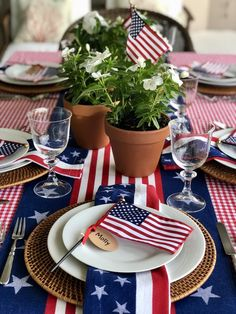 Patriotic Tablescape - The Preppy Hostess