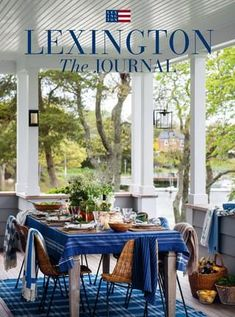 For spring 2017 we enjoy the American East Coast at home with the blue and soft orange cushions and cotton throws and combine them with a crisp white base. New England style, navy hues, and timeless stripes will also be found in our home collection o. Lexington Company, Lexington Home, England Beaches, Orange Cushions, Home Catalogue, New England Style, Outdoor Furniture Sets, Outdoor Decor, Beach Cottages