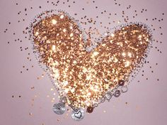 gold heart  #sparkle