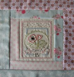 I thought I would post here my finished 'Le Jardin' Quilt blocks and other projects relating to the  'Girls Own Stitching Club'  designed ...