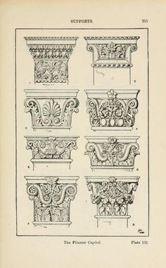 A handbook of ornament Supports the pilaster capital page 215
