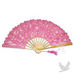 Pink Lace Hand Fan