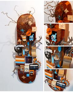 Skateboard deck wall hanging.