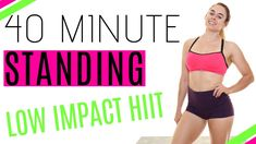STANDING ABS, CARDIO & LEGS: 40 Minute HIIT Workout // Low Impact Apartment Friendly (HILIT) - YouTube Daily Home Workout, Leg Workout At Home, At Home Workouts, Low Impact Hiit, 5 Year Plan, Workout For Beginners, Beginner Workouts, Standing Abs, 30 Day Challenge
