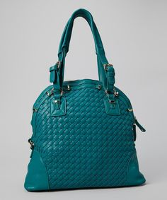 Take a look at this Turquoise Weave Tote on zulily today!