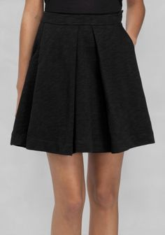 And Other Stories | Cotton Mini Skirt | Black