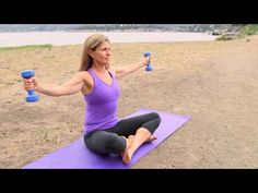 Exercises to Lose Your Arms & Stomach While Sitting Down : Pilates & Core Exercises - YouTube