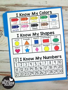 Free Preschool Learning Folder - This Reading Mama