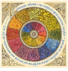 Zentangle: Color Wheel