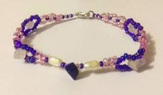 Lapis Lazuil, Rose Quartz with Pearl Beaded Bracelet Pearl Beads, Rose Quartz, Beadwork, Seed Beads, My Etsy Shop, Beaded Bracelets, Gemstones, Pearls, Check