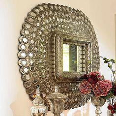 I love a peacock mirror!