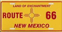 New Mexico Route 66 Flag License Plate New Mexico Style, New Mexico Homes, New Mexico Usa, Route 66 Road Trip, Road Trips, Historic Route 66, Usa Holidays, Around The World In 80 Days, Sea To Shining Sea