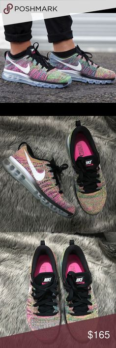 OFFER ME⚡️Women's Nike Air Max Flyknit Multicolor Used but in great condition! No rips or stains. Super rare colorway. Retails for $225 Nike Shoes Athletic Shoes