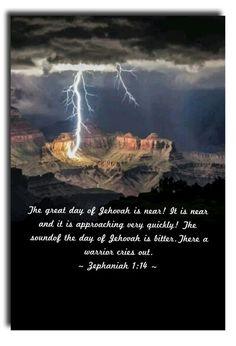 The great day of Jehovah is near! It is near and it is approaching very quickly! The sound of the day of Jehovah is bitter.There a warrior cries out. Isaiah 42, Jesus Our Savior, Manifestation Law Of Attraction, Everlasting Life, Spiritual Thoughts, Bible Teachings, Bible Knowledge, Bible Truth, Jehovah's Witnesses